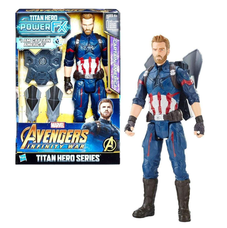 Capitán América Figura Marvel Titan Hero Power Fx
