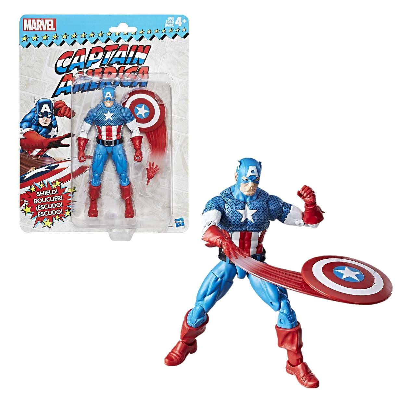 Capitán América Figura Marvel Legends Vintage Style Hasbro