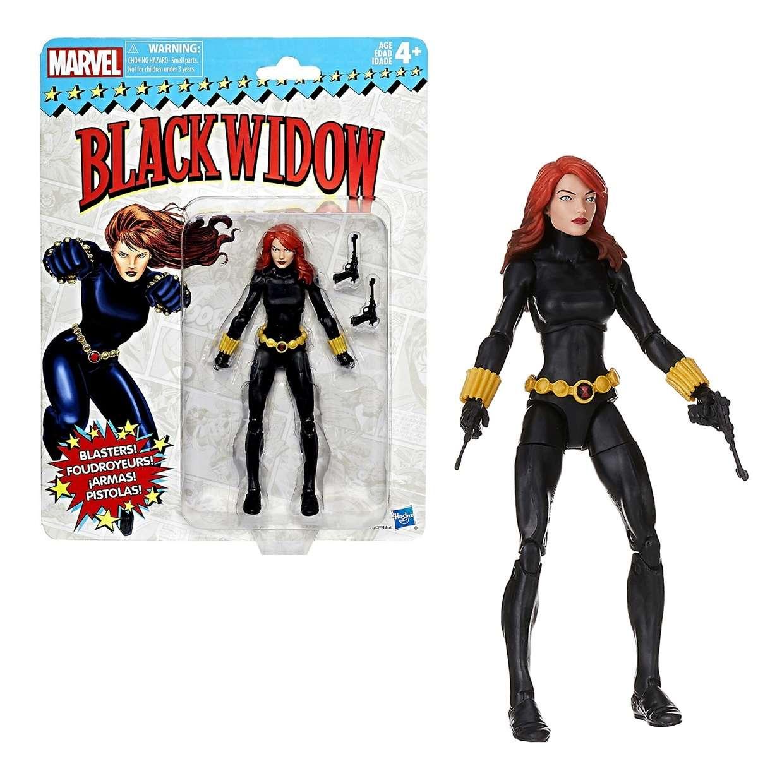 Black Widow Figura Marvel Legends Vintage Style Hasbro