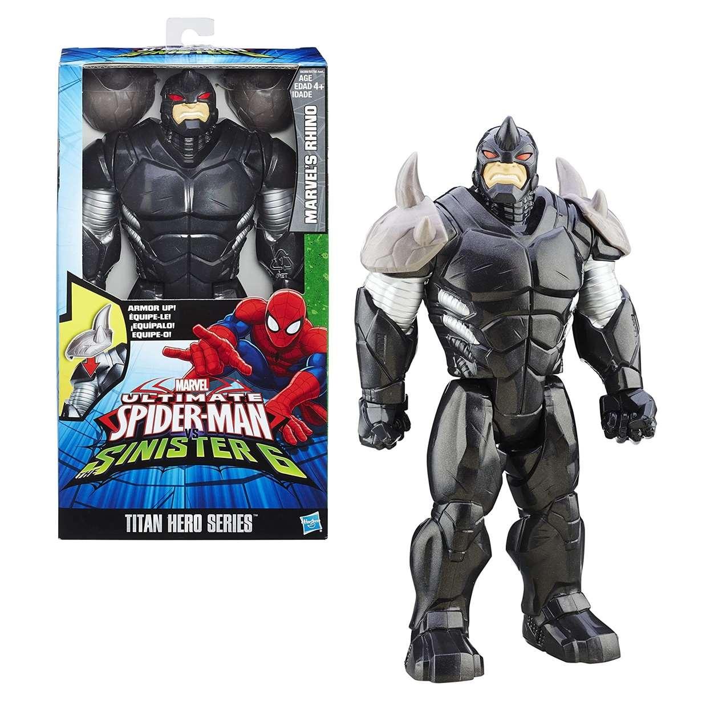 Rhino Figura Ultimate Spiderman Sinister 6 Titan Hero Serie