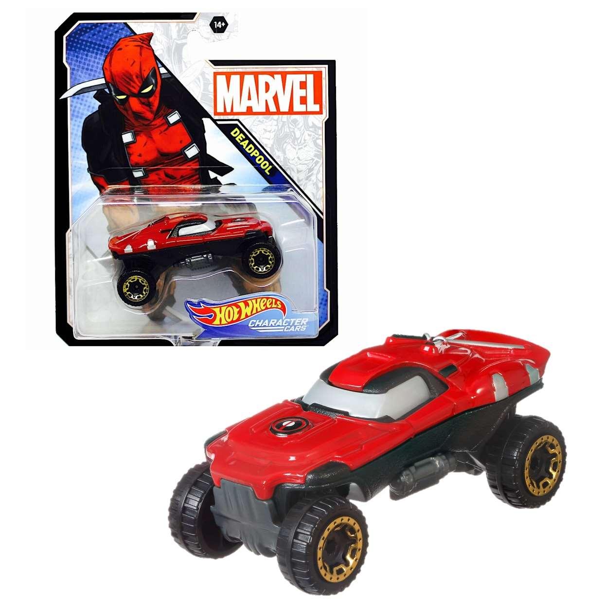 Deadpool Hot Wheels Gmh83 Marvel Character Cars