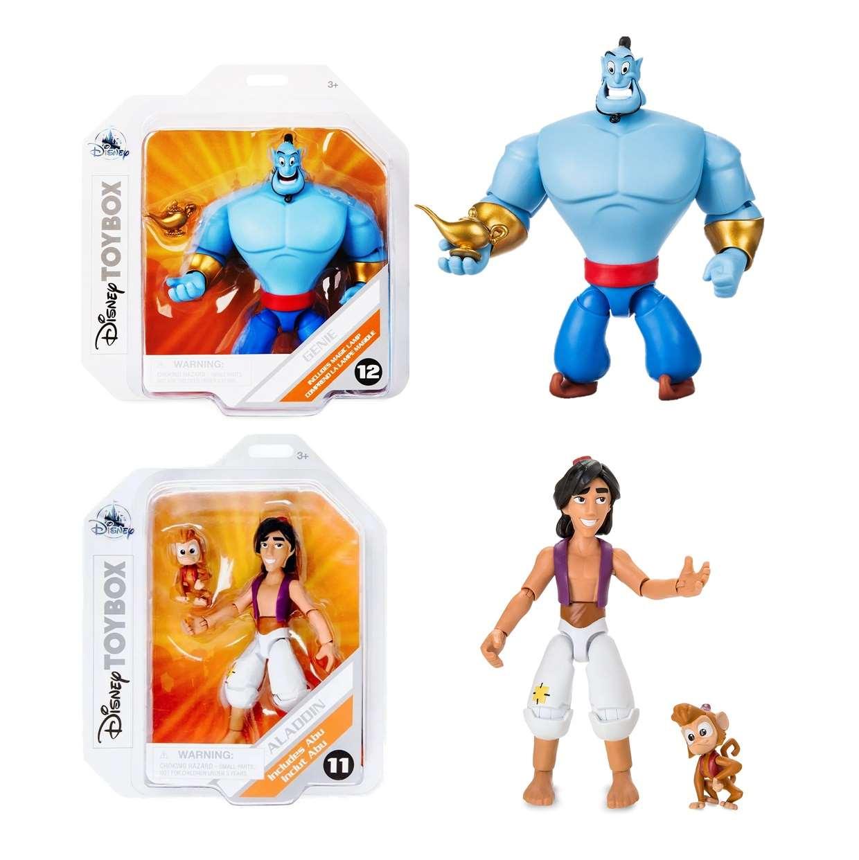 Pack Aladdin Includes Abu #11 + Genie #12 Disney Toybox