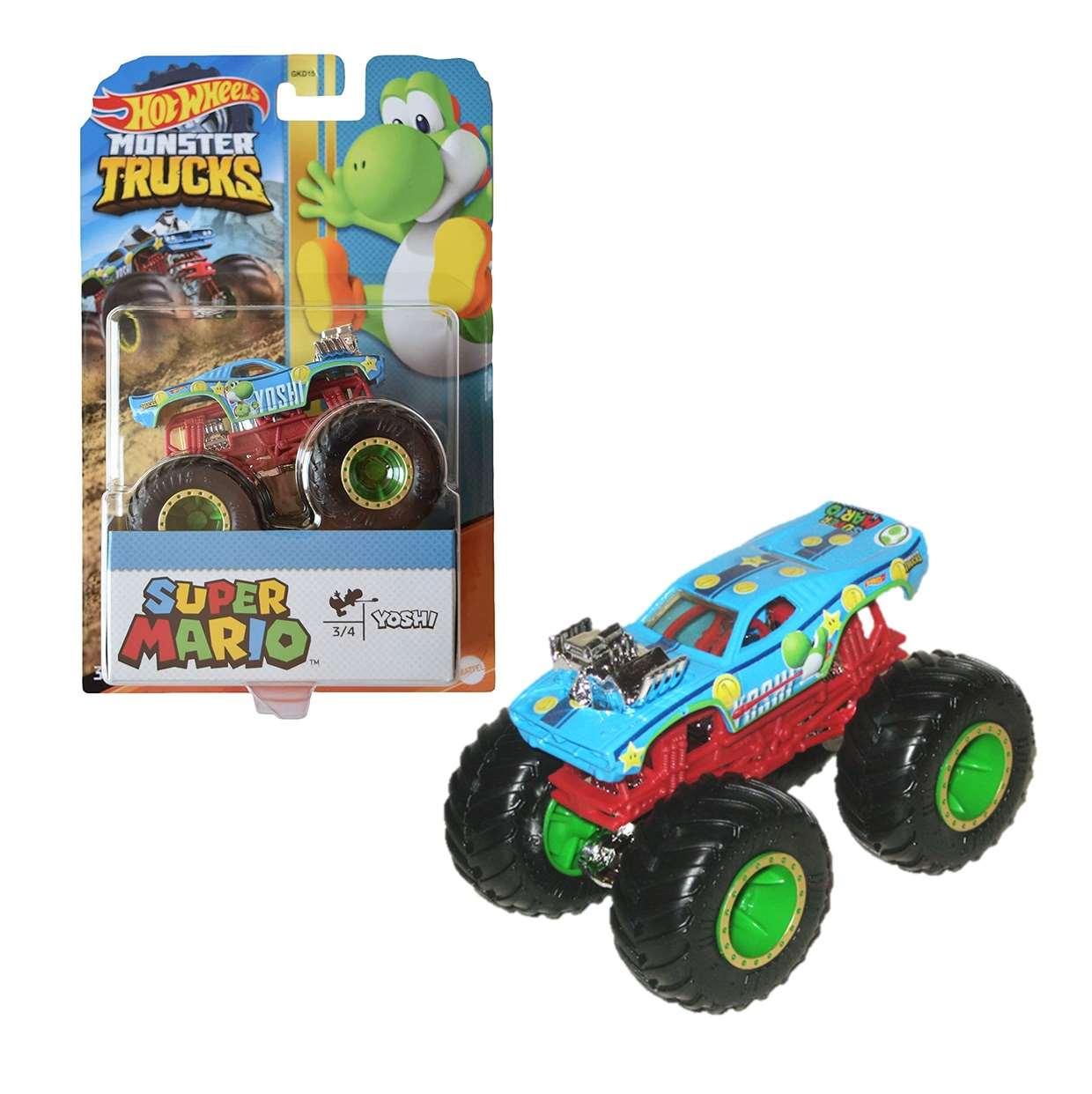 Yoshi Super Mario 3/4 Hot Wheels Monster Trucks