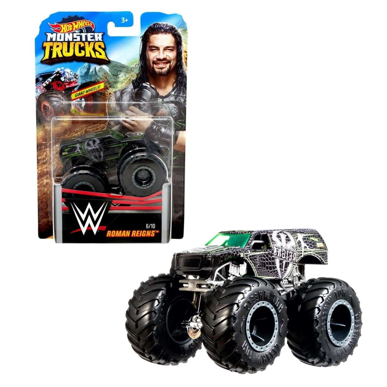 Roman Reigns Monster Trucks 6/10 Giant Wwe Hot Wheels