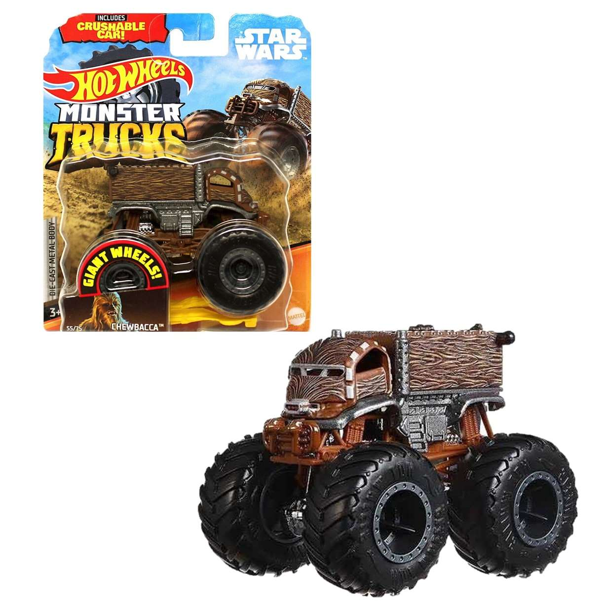 Chewbacca Star Wars 55/75 Hot Wheels Monster Trucks