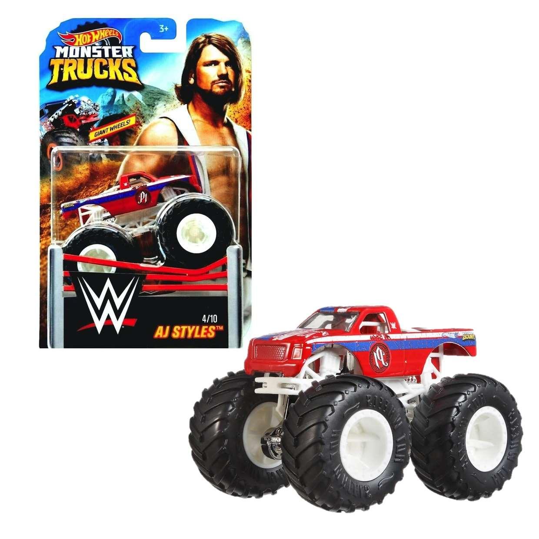 Monster Truck Aj Styles 4/10 Giant Wwe Hot Wheels