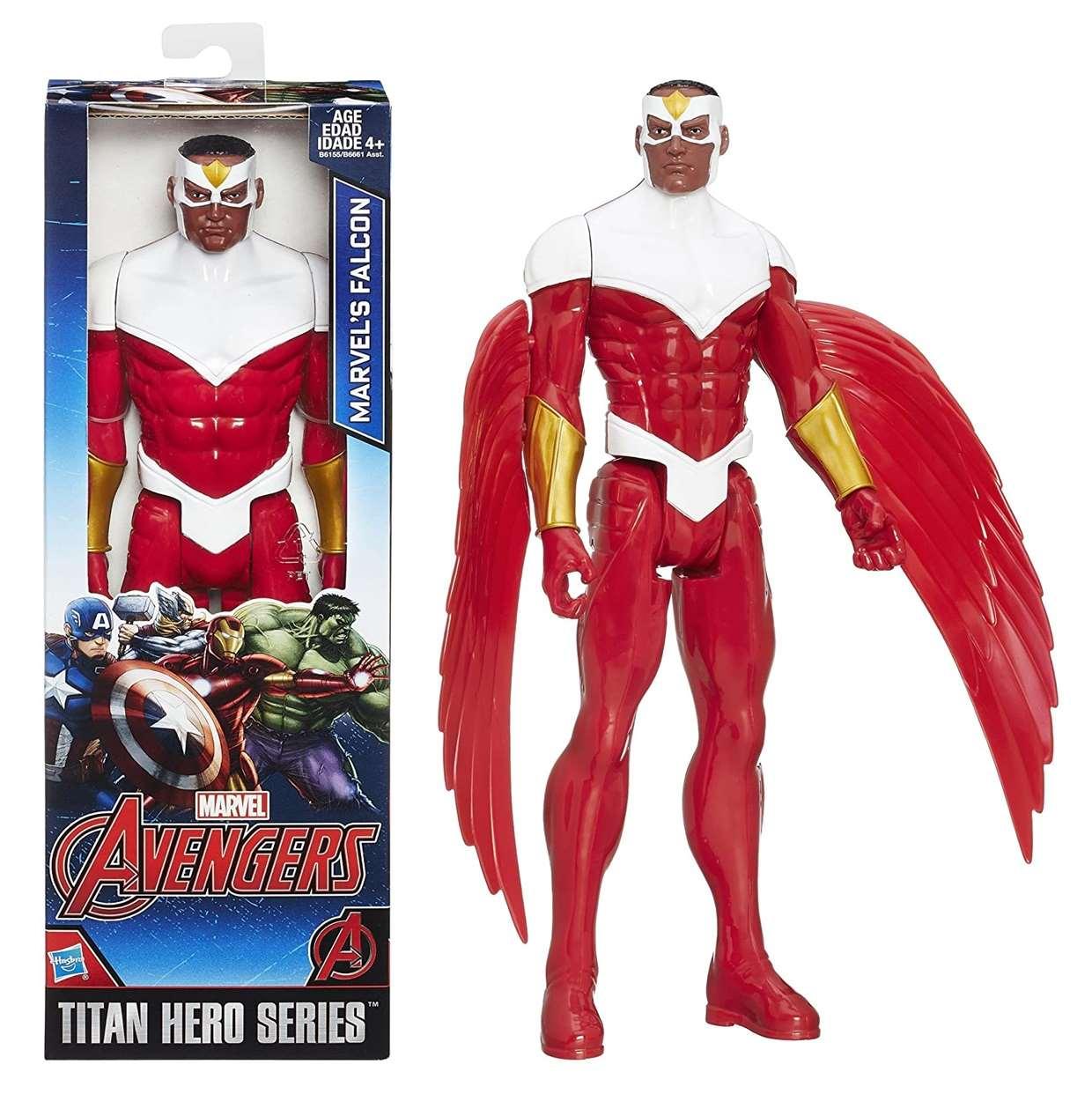 Falcón Figura Marvel Avengers Titan Hero Series 12 Pulgadas