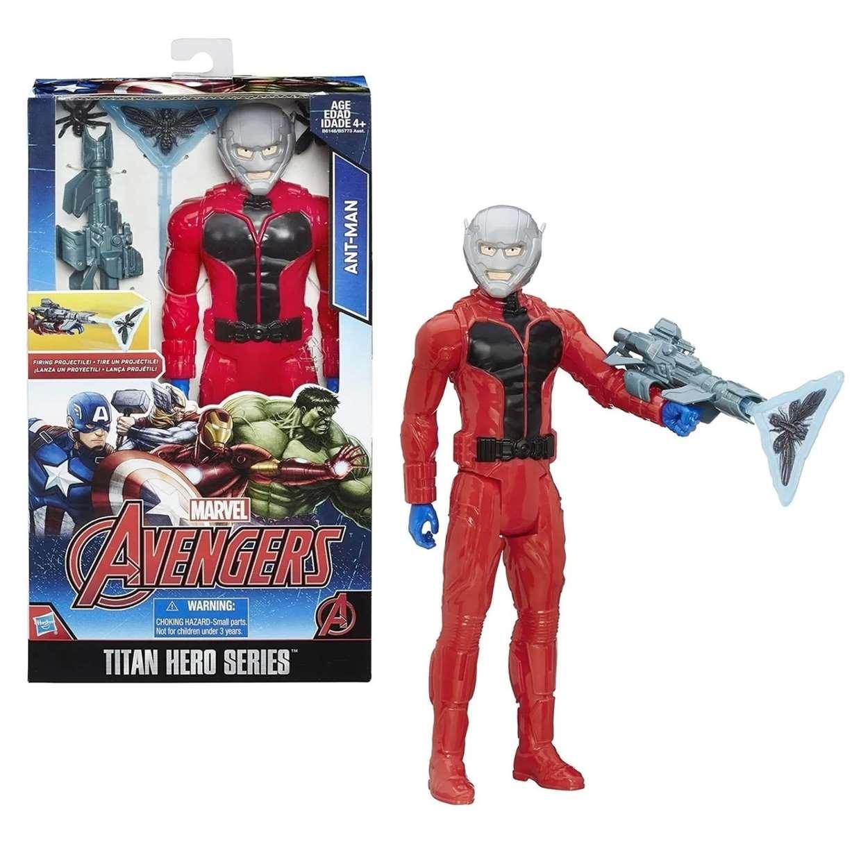 Ant Man Firing Projectile Figura Avengers Titan Hero 12 PuLG