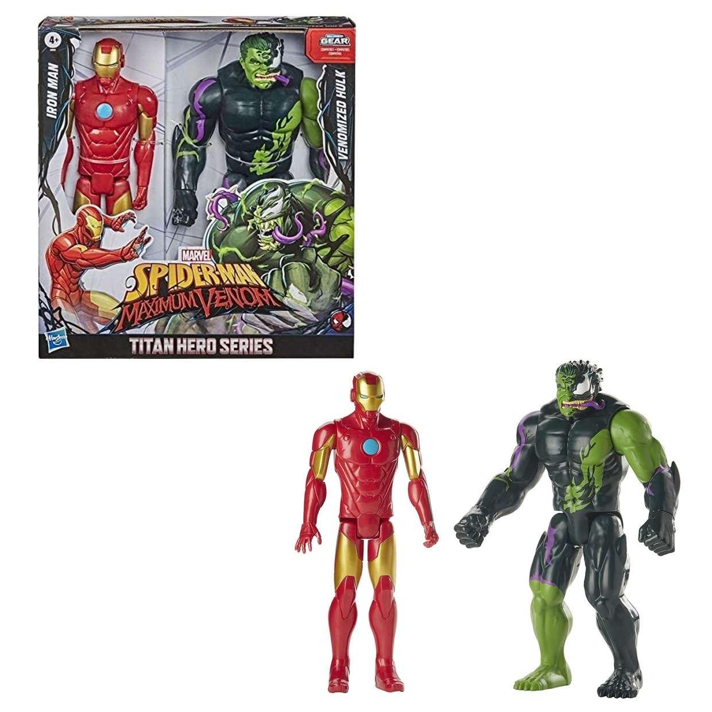 Iron Man Y Hulk Venomized Spiderman Maximum Venom Titan Hero