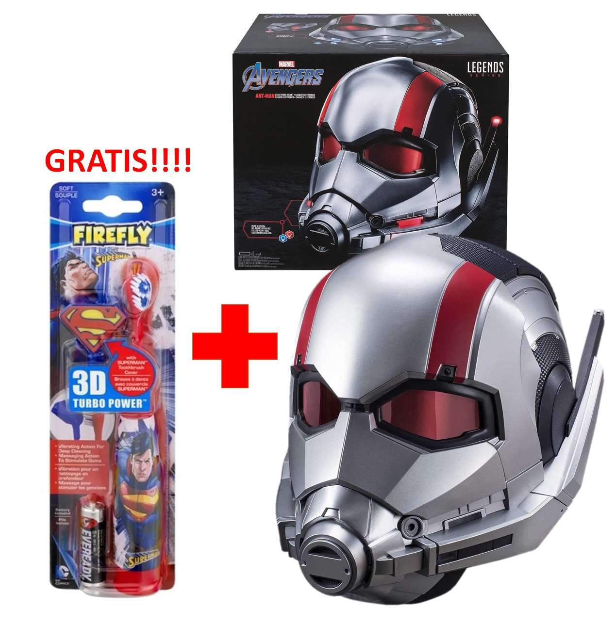 Casco Electrónico Ant Man Marvel Legends Series + Cepillo Gratis!!