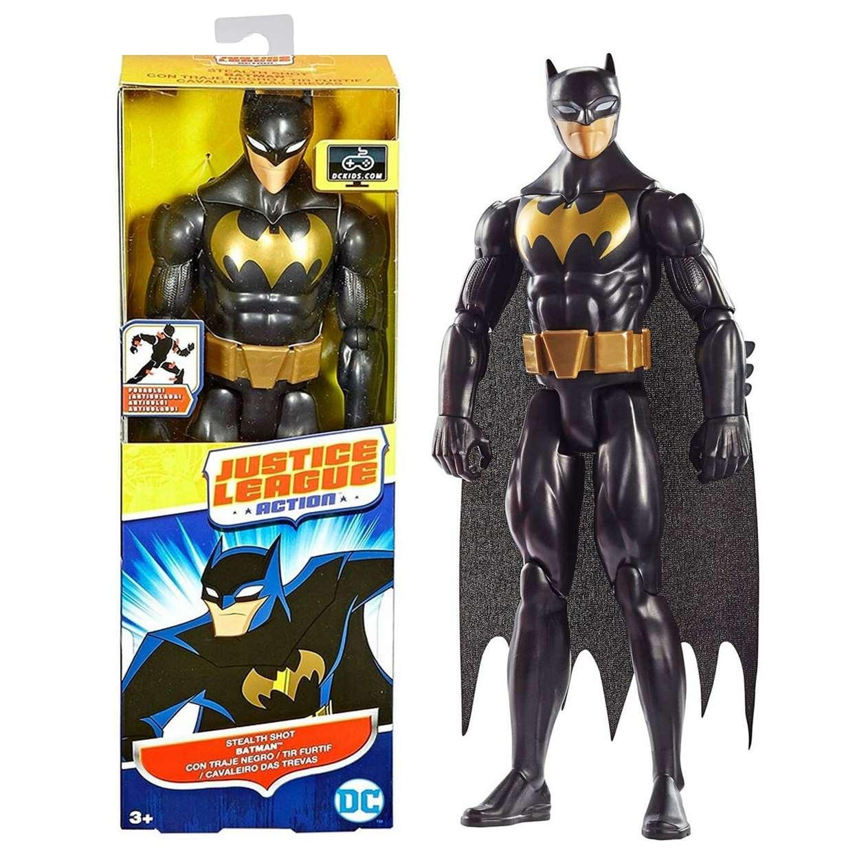 Batman Stealth Shot Figura Dc Justice League Action 12 PuLG