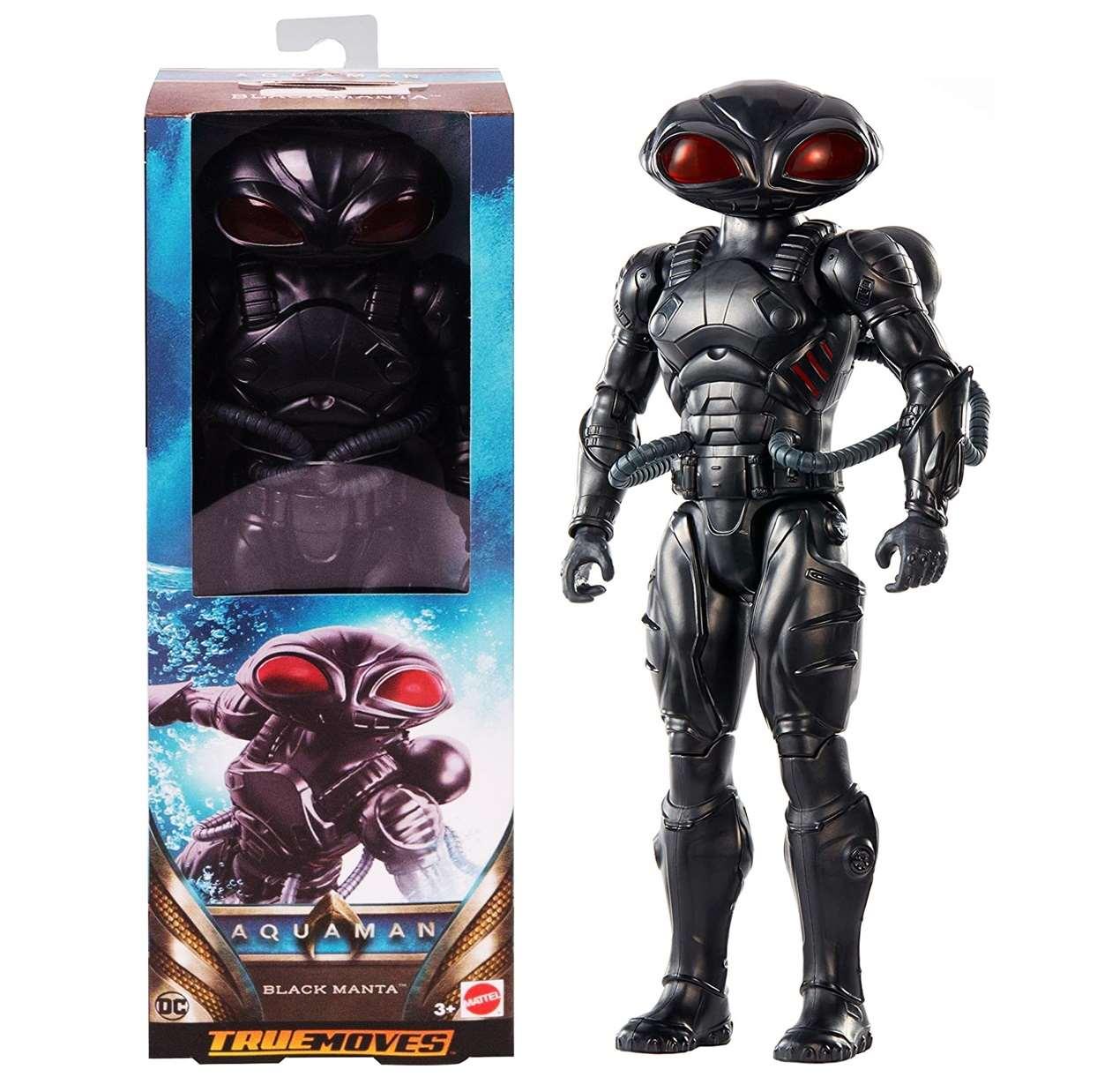 Black Manta Figura Dc Aquaman True Moves Mattel 12 PuLG