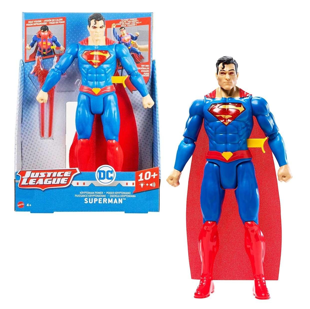 Superman Lanza Rayo Figura Justice League C/sonidos 12 PuLG