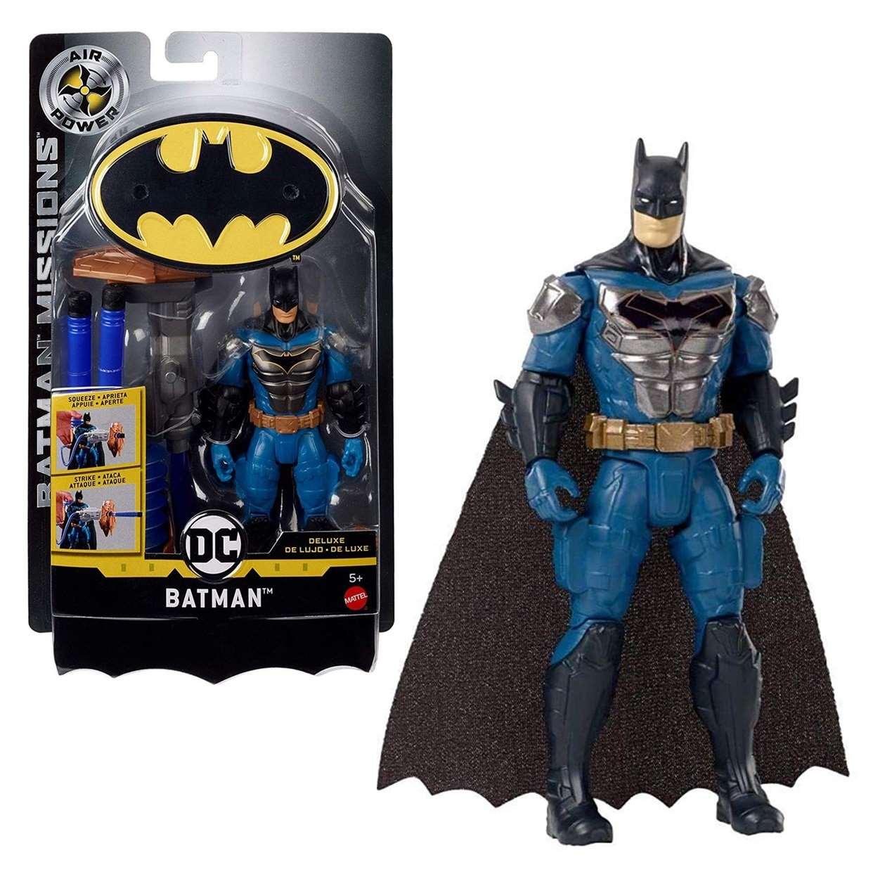 Batman Deluxe Figura Dc Batman Missions Air Power Mattel