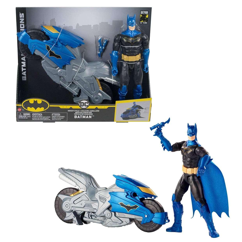 Batman Missions Figura Con Motocicleta 80th Years 12 PuLG
