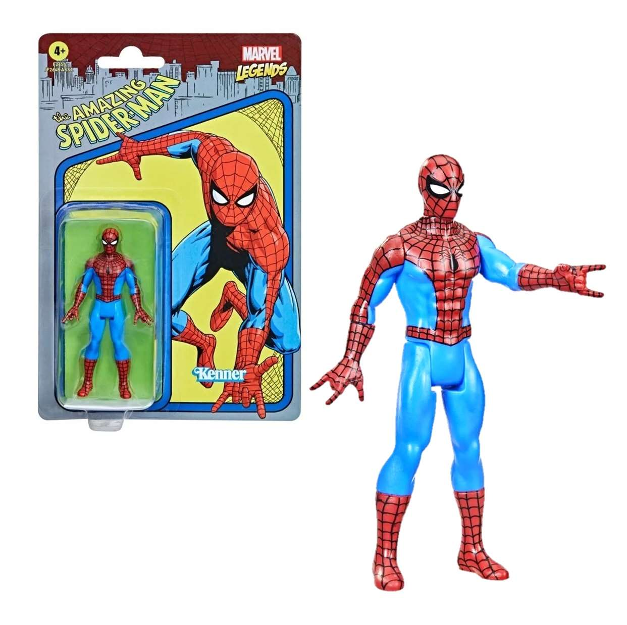 The Amazing Spider Man Vintage Figura Marvel Kenner 3 PuLG