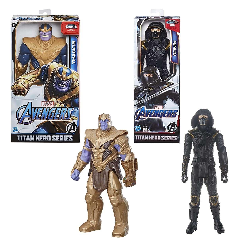 Thanos + Ronin Figuras Marvel Avengers End Game Power FX Titan Hero