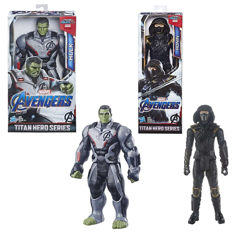 Hulk + Ronin Figuras Marvel Avengers End Game Power FX Titan Hero