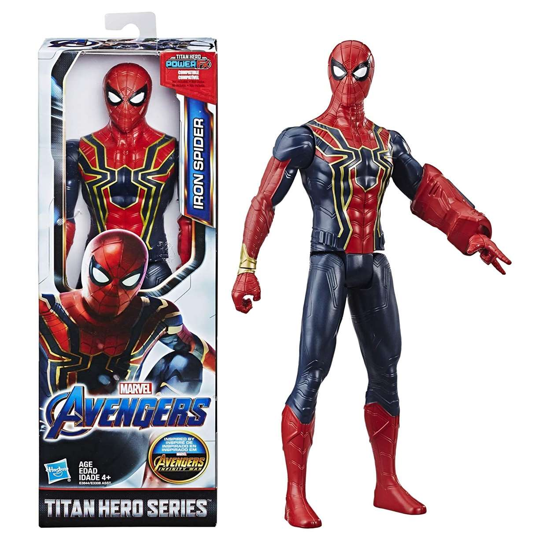 Iron Spider Figura End Game Power F X Titan Hero 12 PuLG