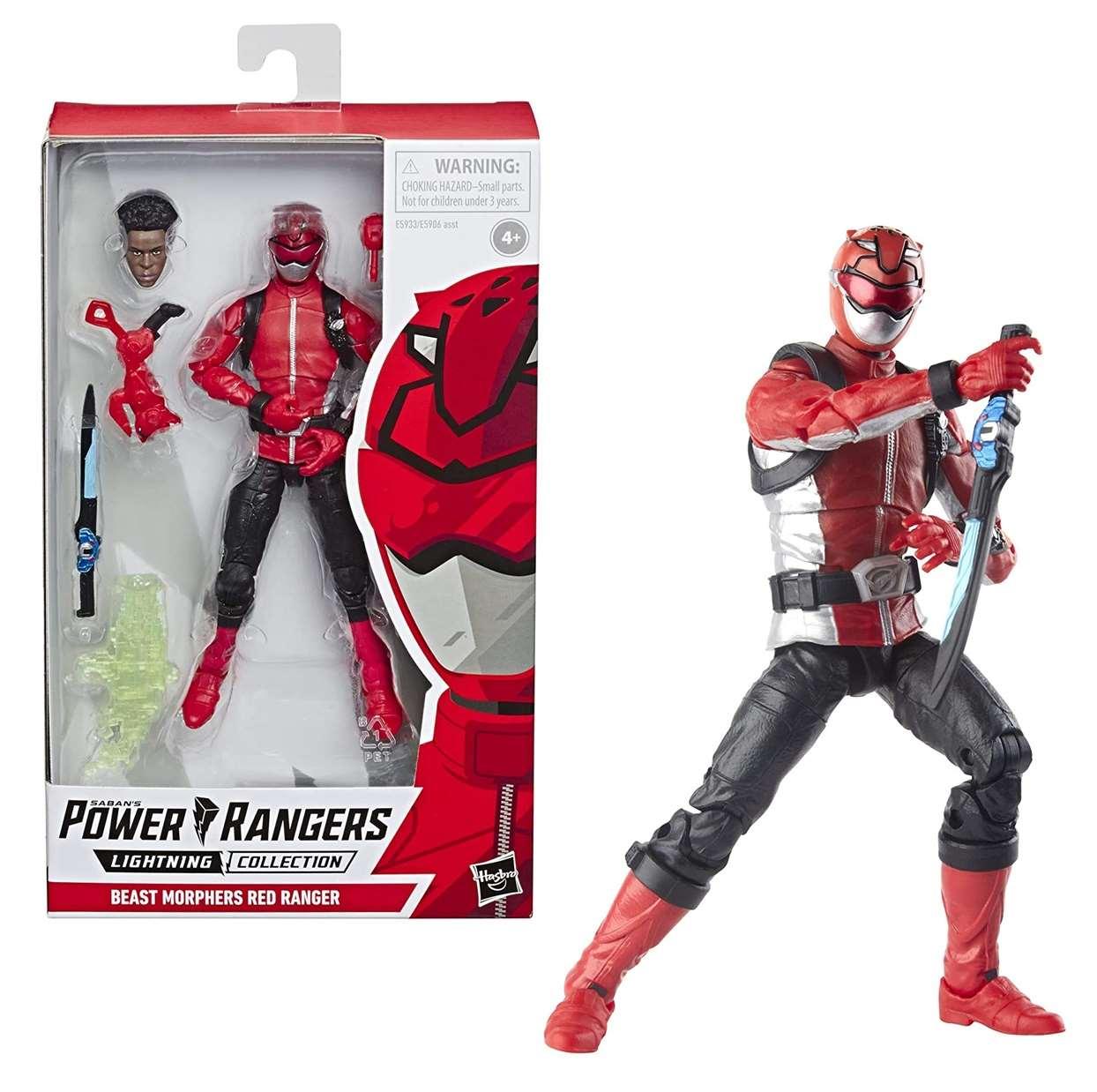 Power Rangers Lighting Collection Beast Morphers Red Ranger