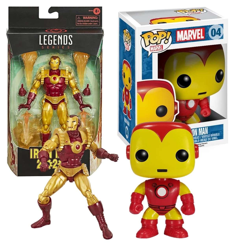 Iron Man 2020 Legends Series + Iron Man #04 Cilindro Gratis!