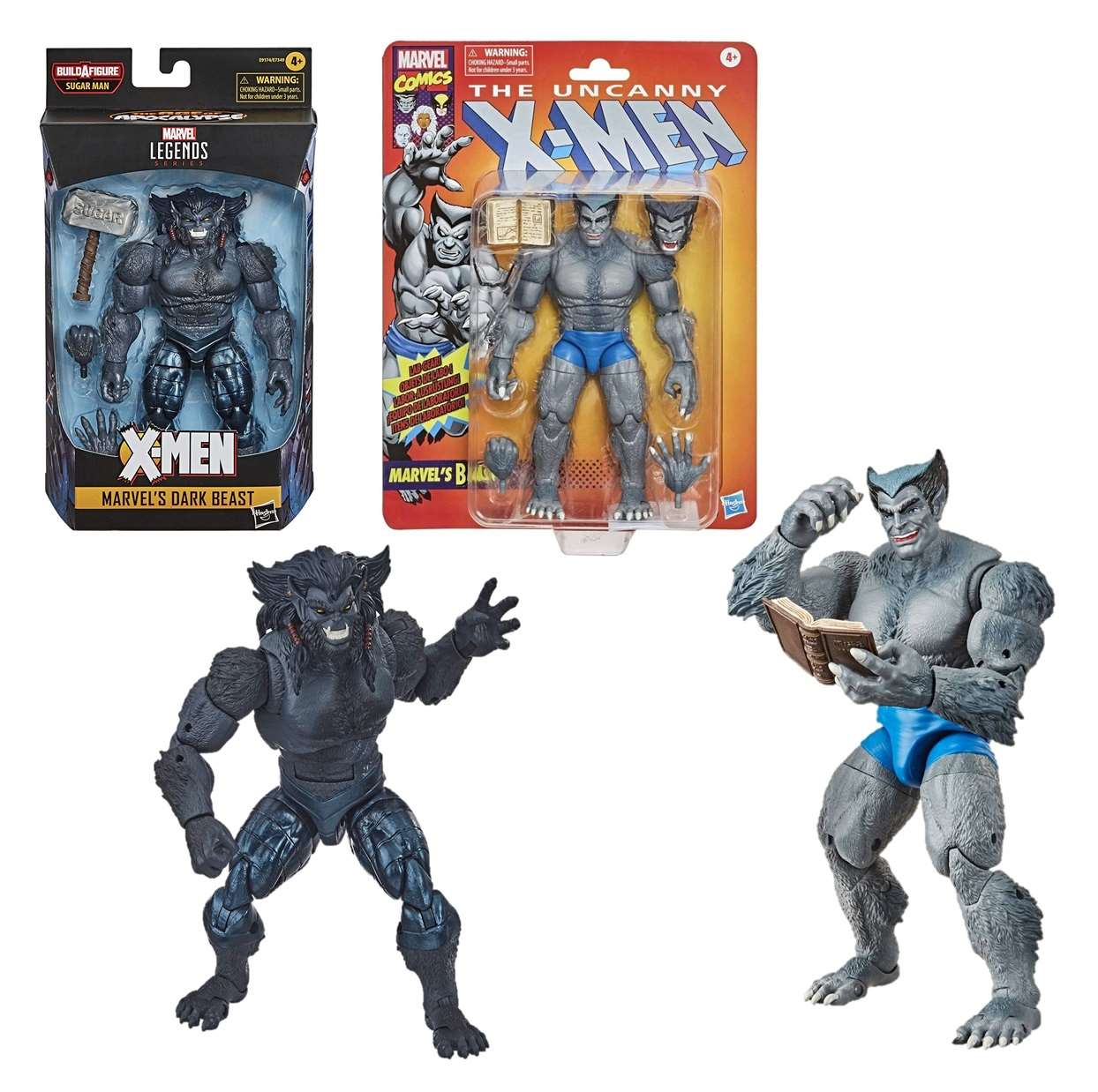 Dark Beast Figura Marvel Legend + Beast Marvel Uncanny X Men
