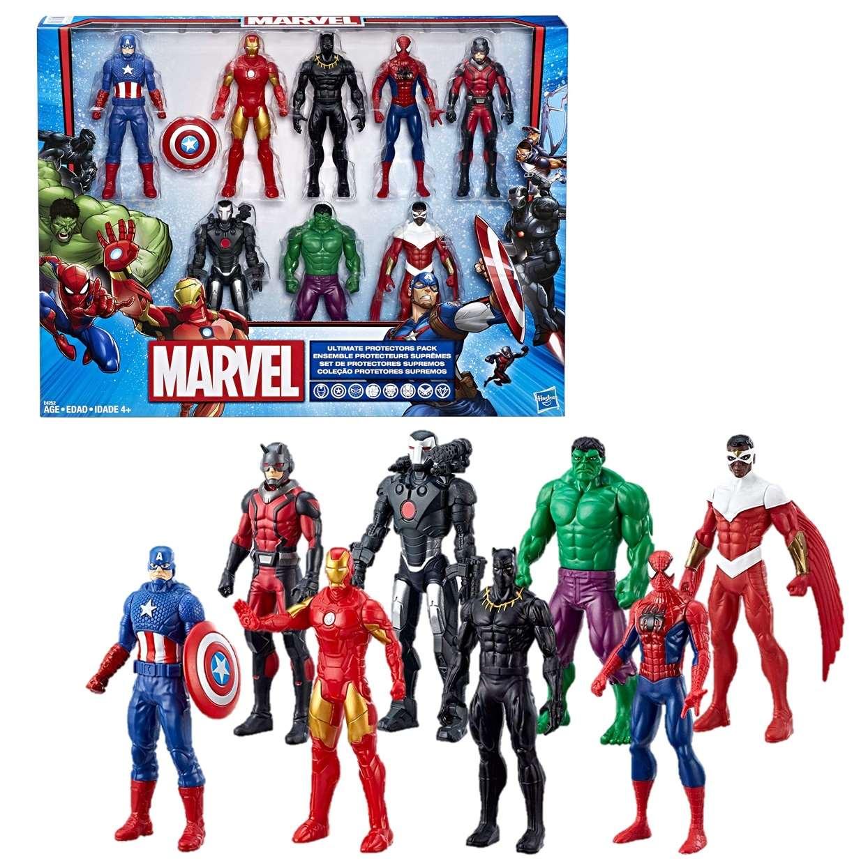 Paquete 8 Figuras Hasbro Marvel Ultimate Protectors 6 PuLG