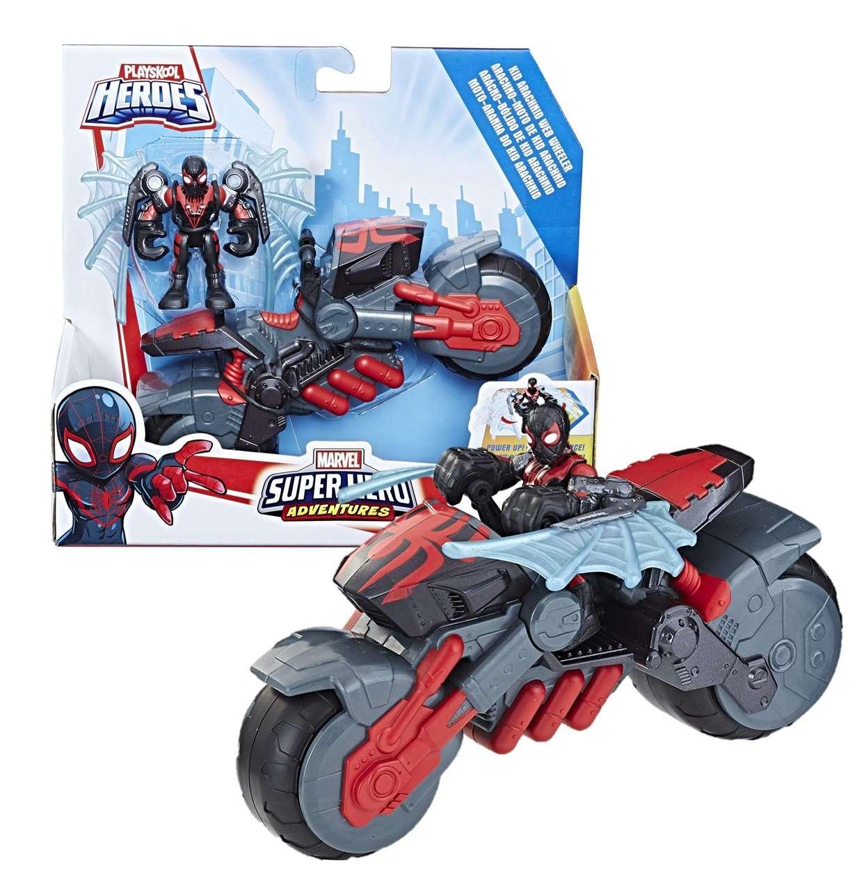Kid Arachnid Web Wheeler Figura Playskool Heroes Adventures