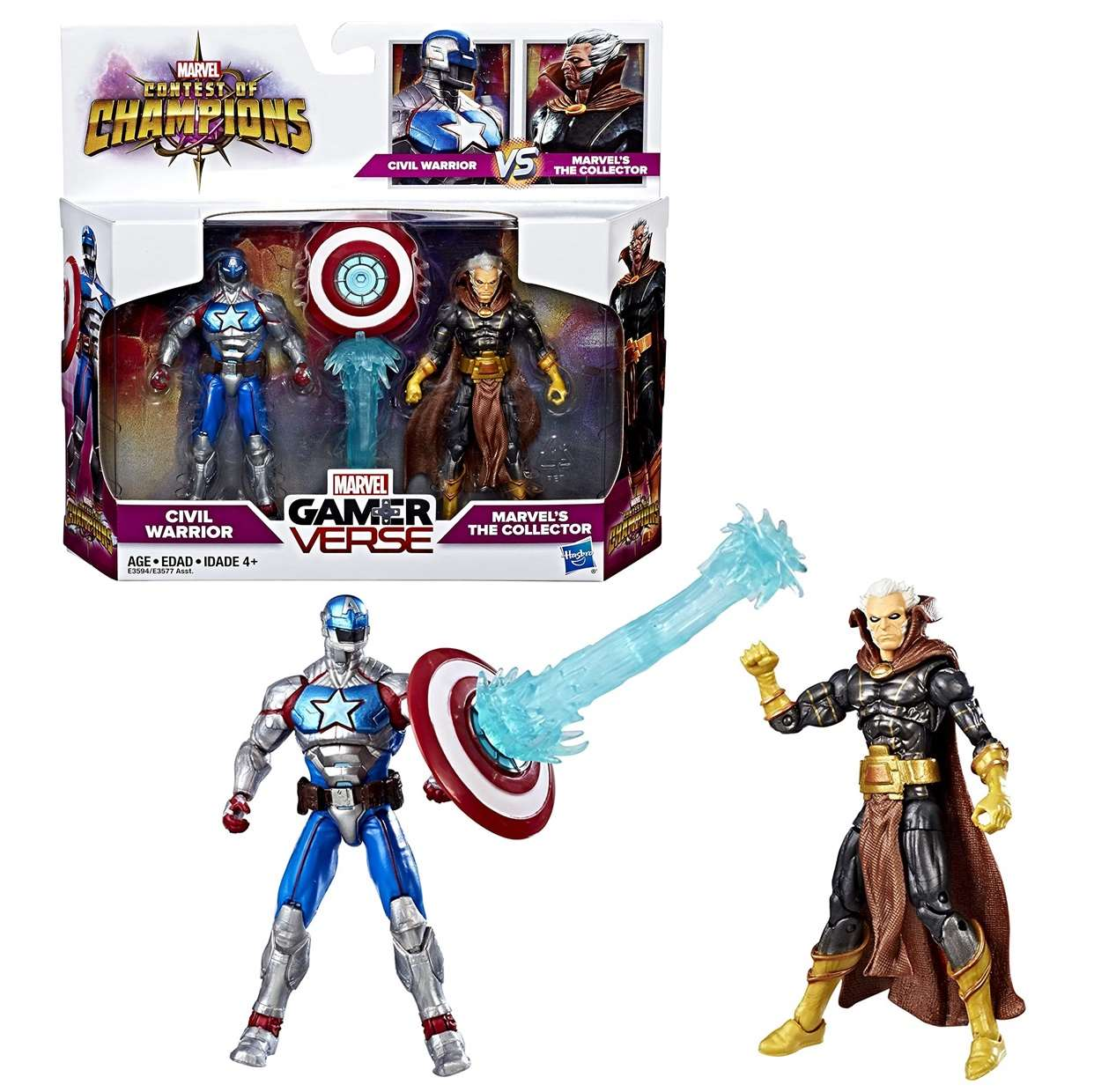 Two Pack Civil Warrior Vs Marvel The Collector Gamerverse