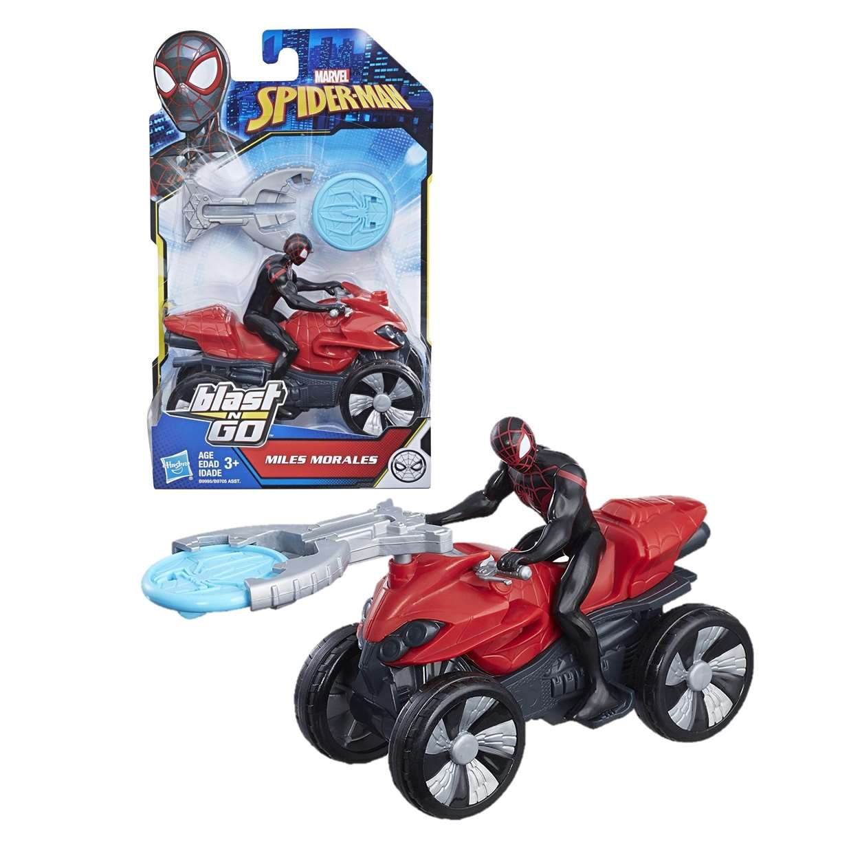 Miles Morales Figura Marvel Spider Man Blast N Go! 4 PuLG
