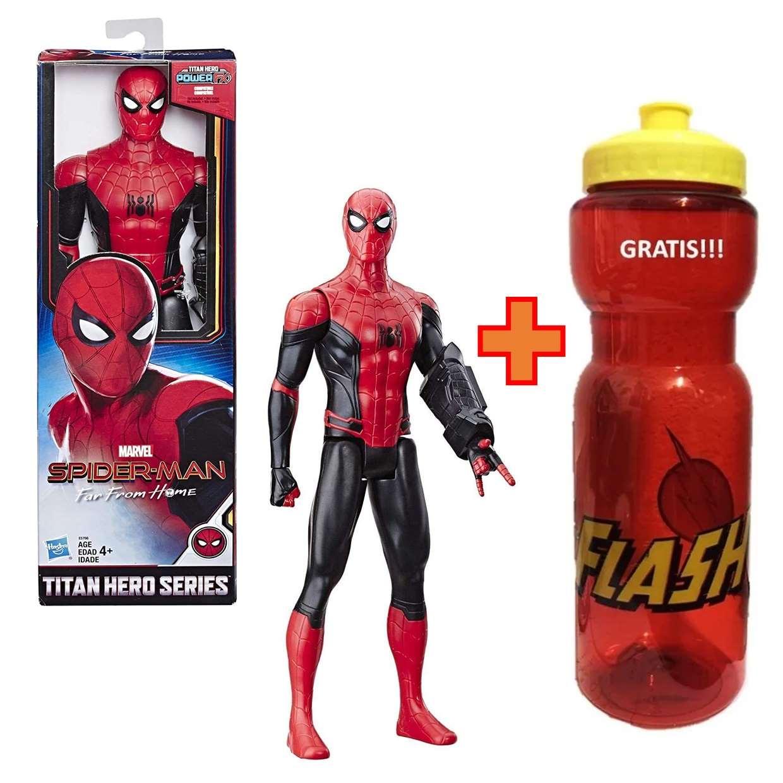 Spider Man Figura Far From Home Titan Hero + Cilindro 30 Cm