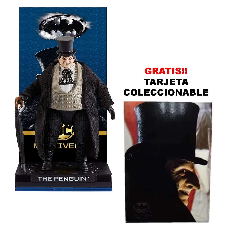 The Penguin Figura Mattel Dc Comics Multiverse + Tarjeta Coleccionable