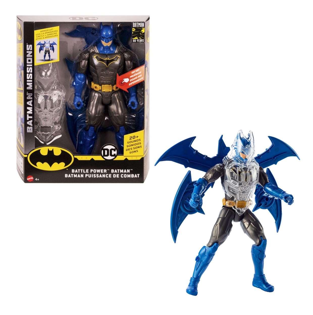 Batman Battle Power Batman Missions Con Luz y Sonido 12 Pulg
