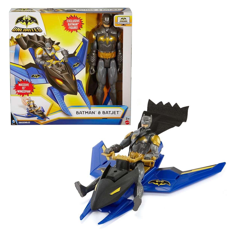 Batman With Batjet Figura Dc Comics Batman Unlimited 12 PuLG