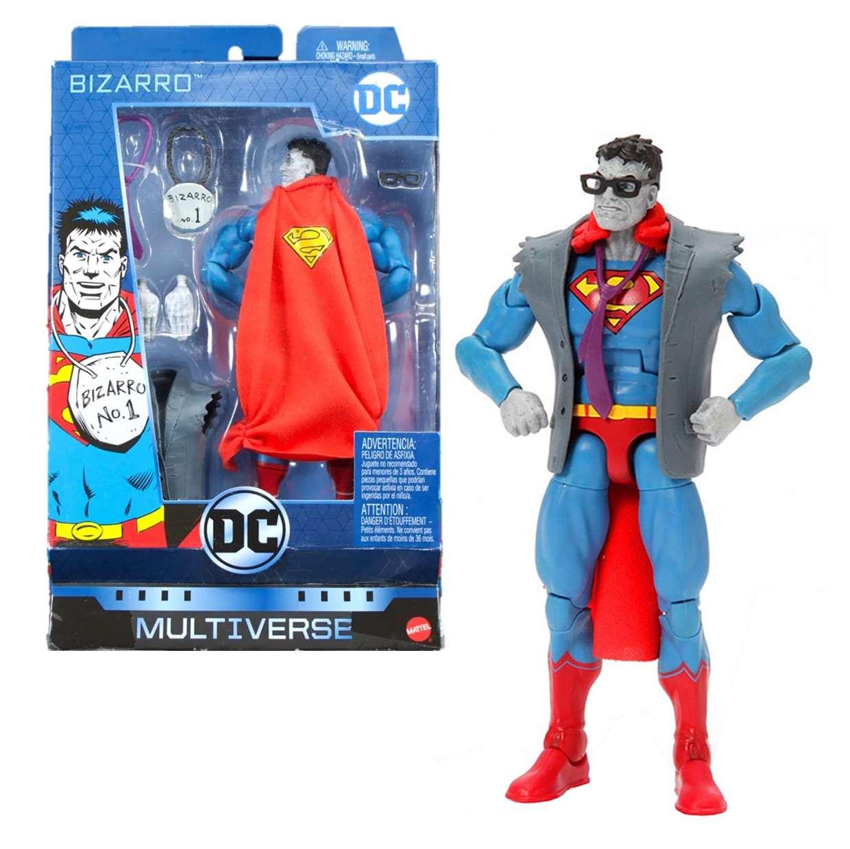 Bizarro Núm. #1 Figura Dc Comics Multiverse Mattel 6 PuLG