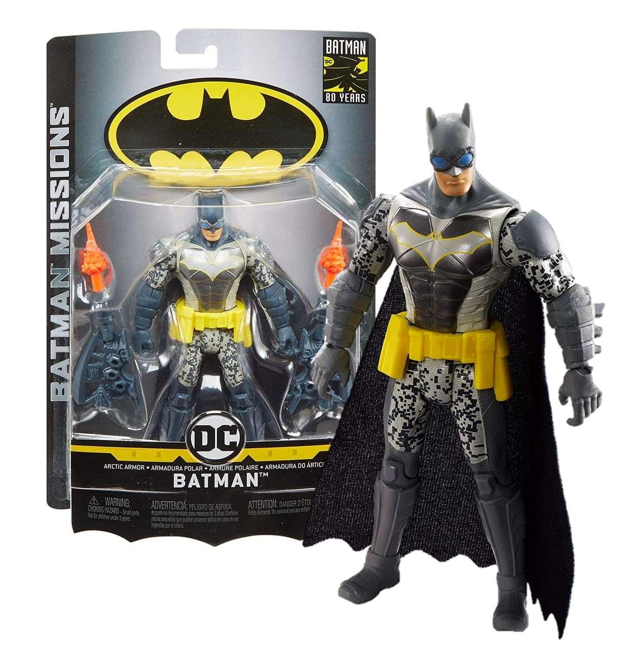 Batman Armadura Polar Figura Batman Missions 4 Pulgadas