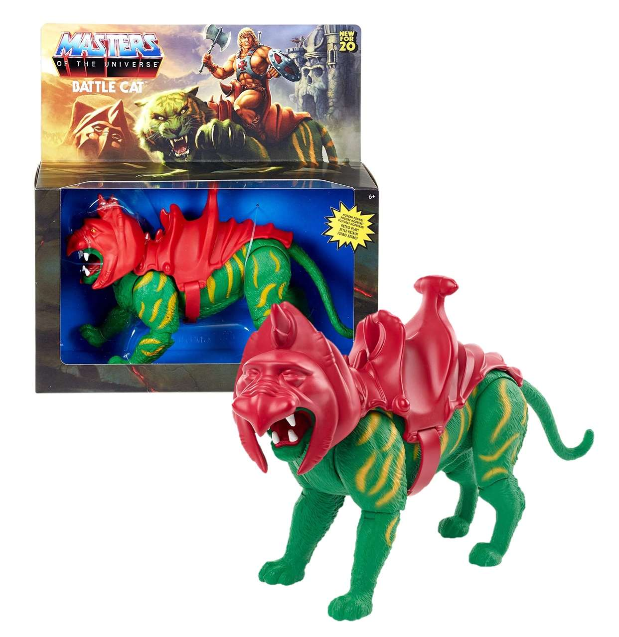 Battle Cat Retro Play Figura Masters Of The Universe 6 PuLG