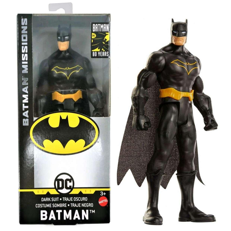 Batman Black Suit Gck98 Missions Figura Dc Batman 80th Years 6 Pulg