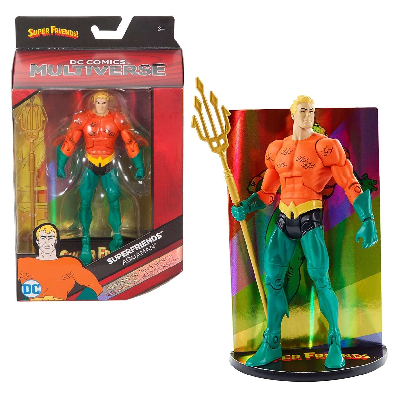 Aquaman Vintage Figura Dc Comics Super Friends Multiverse