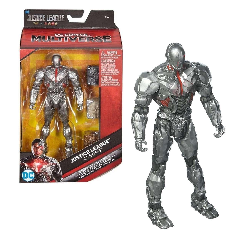 Cyborg Figura Justice League 3 Cajas Madre Dc Multiverse