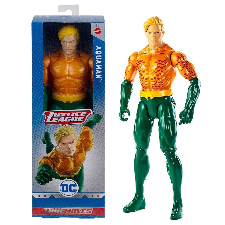 Aquaman Figura Dc Justice League True Moves 12 Pulgadas
