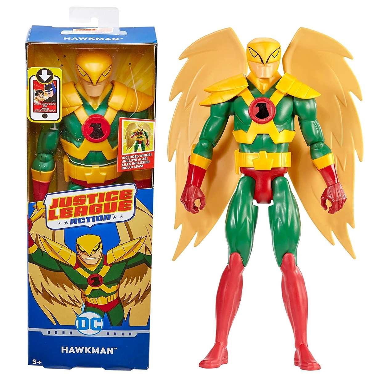 Hawkman Figura Dc Justice League Action Mattel 12 Pulgadas