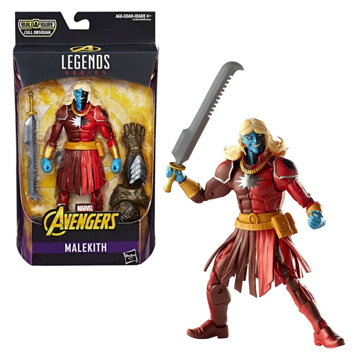 Malekith Figura Marvel B A F Cull Obsidian Legends 6 Pulg