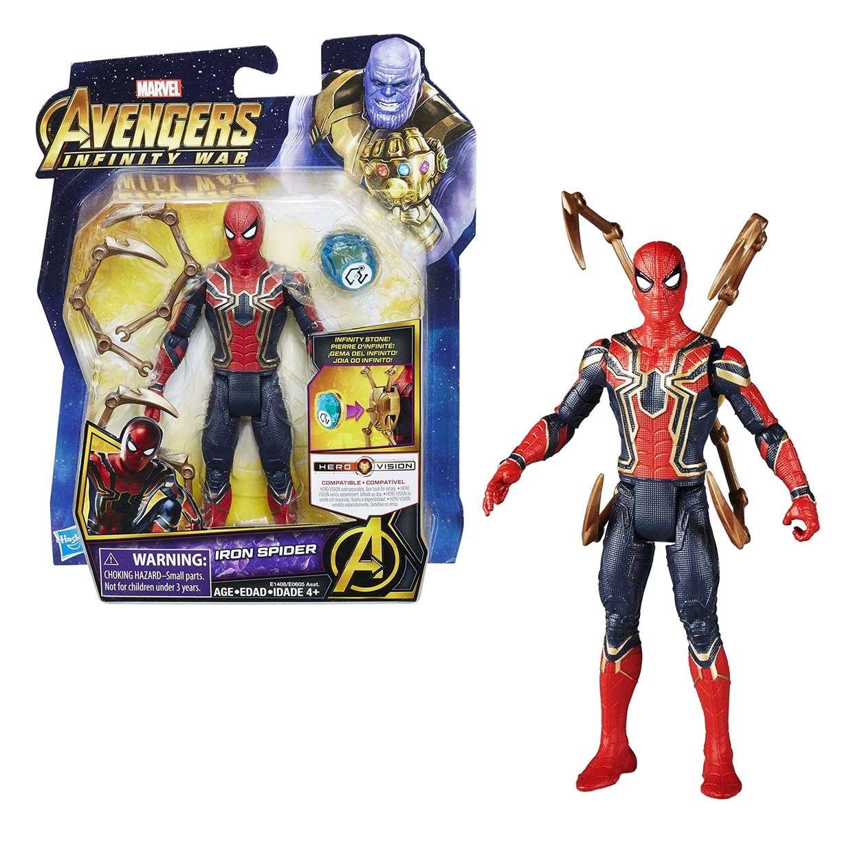 Iron Spider Figura Marvel Infinity War Gemas Del Infinito