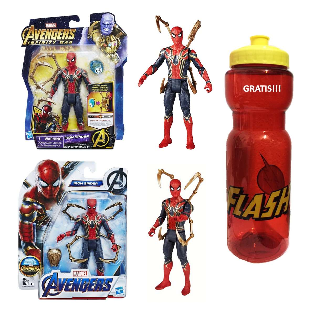Pack Iron Spider End Game + Iron Spider Infinity War 6 PuLG  Cilindro Gratis!!