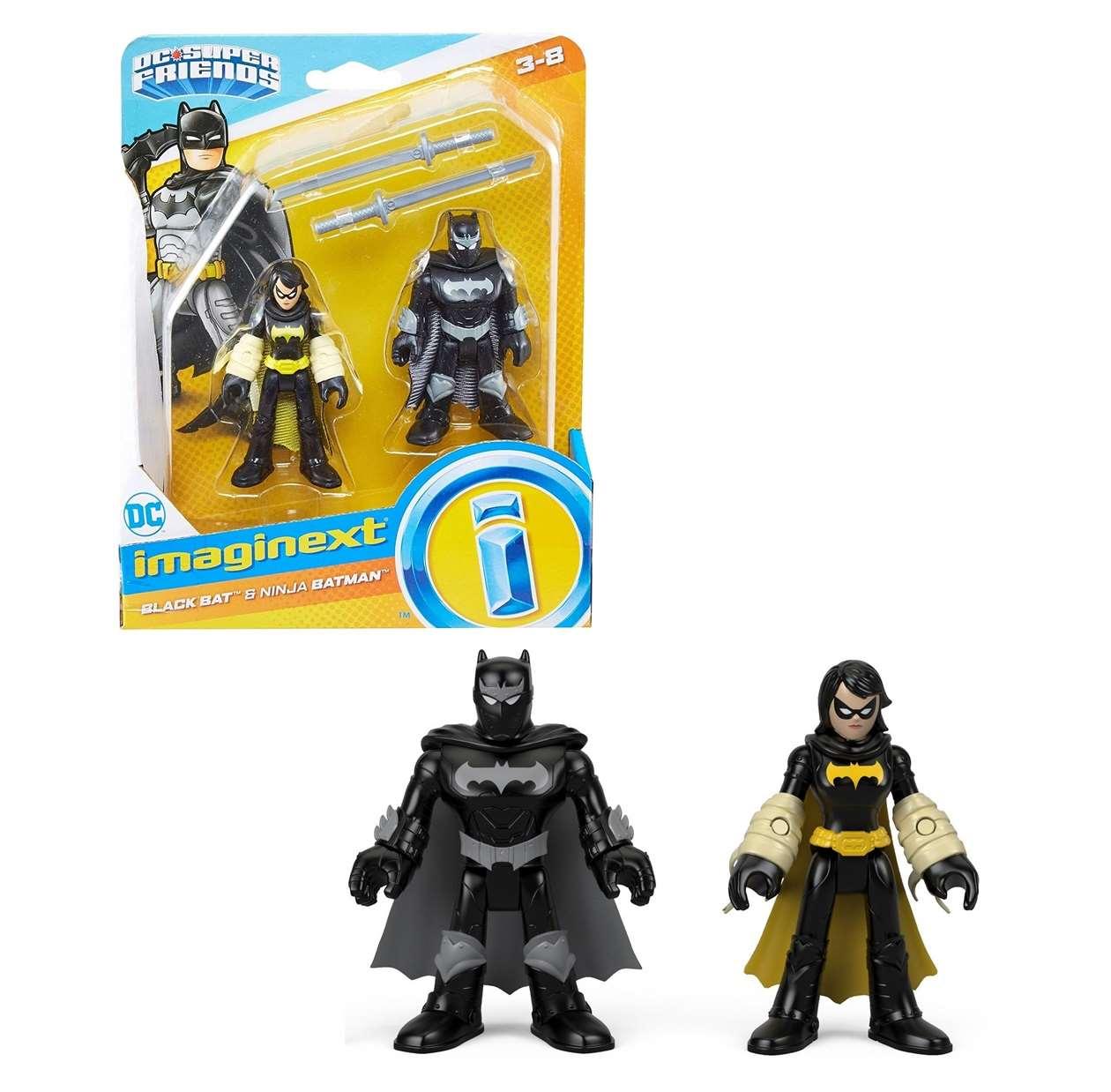 Black Bat And Ninja Batman Dc Super Friends Imaginext