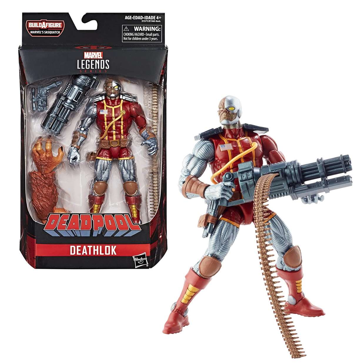 Deathlok Figura Marvel B A F Sasquatch Deadpool Legends  6 Pulg