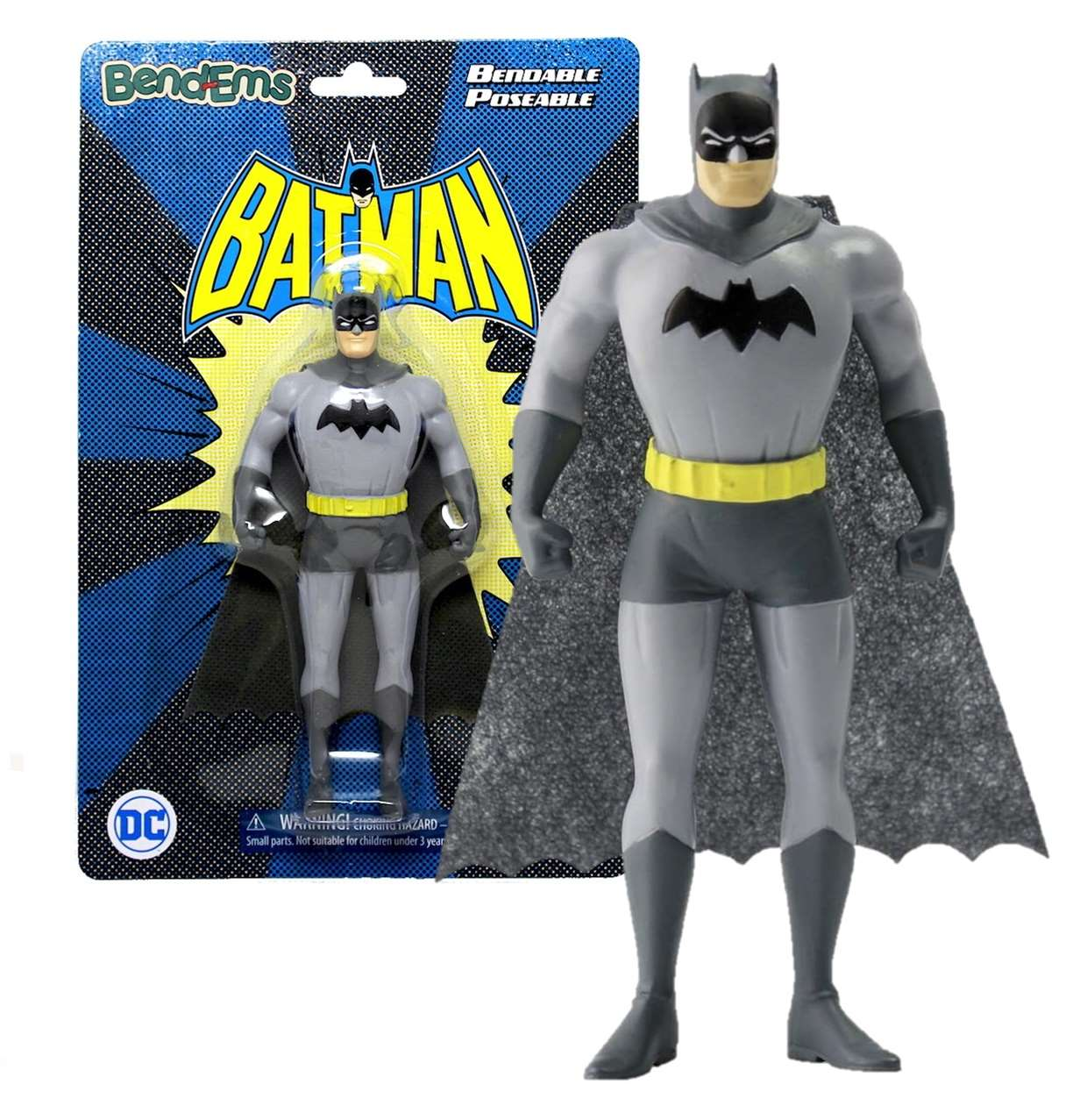 Batman Vintage Bendable Poseable Figura Dc Bendems Sunny Day