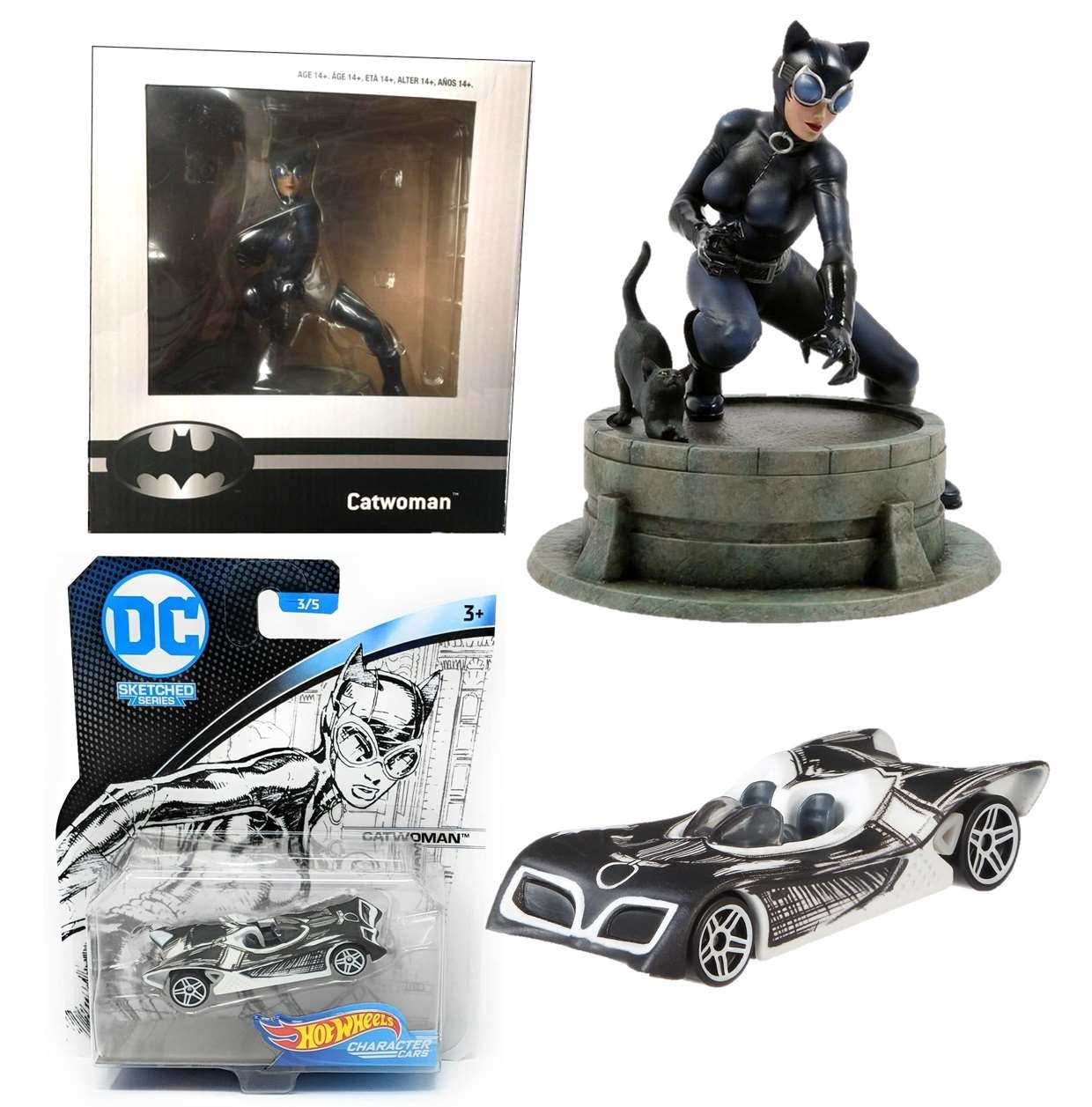 Catwoman Diorama Exclusivo Game Stop + Catwoman Hot Wheels