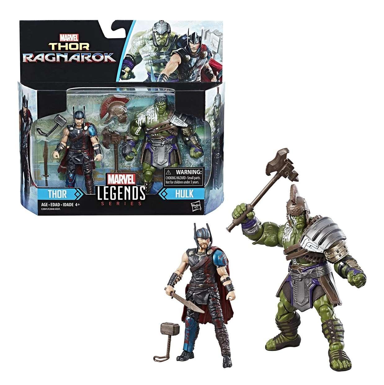 Paquete 2 Figuras Thor And Hulk Marvel Thor Ragnarok Legends